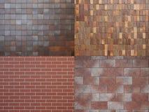 4 различных текстуры плитки Стоковые Изображения RF