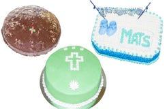 3 различных торта Стоковые Изображения