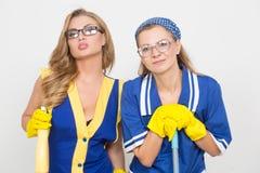2 различных уборщика состязаются плохой штат Стоковые Фотографии RF