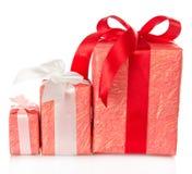 3 различных украшенной коробки Стоковое Фото