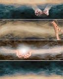 4 различных целостных заживление знамени вебсайта Стоковые Изображения RF