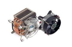 2 различных heatsinks C.P.U. active с вентиляторами Стоковые Фотографии RF