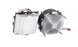 2 различных heatsinks C.P.U. active с вентиляторами Стоковые Изображения