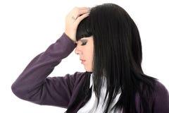 Раздражанная раздражанная утомленная усиленная надоеданная женщина Стоковые Изображения