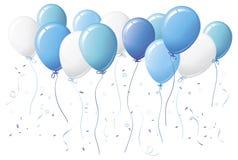 раздувает голубой confetti Стоковое Фото