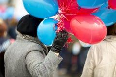 раздувает женщина Стоковая Фотография RF