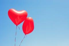 раздувает сформированный красный цвет сердца Стоковые Фото