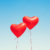раздувает сформированный красный цвет сердца Стоковая Фотография RF