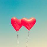 раздувает сформированный красный цвет сердца Стоковые Изображения