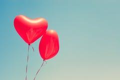раздувает сформированный красный цвет сердца Стоковые Фотографии RF