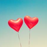 раздувает сформированный красный цвет сердца Стоковая Фотография