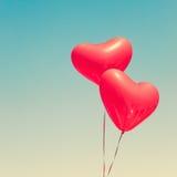 раздувает сформированный красный цвет сердца Стоковое Фото