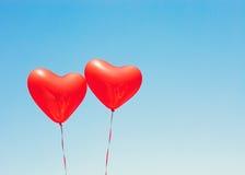 раздувает сформированный красный цвет сердца Стоковое фото RF