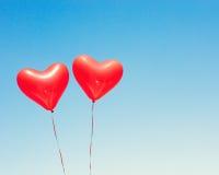 раздувает сформированный красный цвет сердца Стоковые Изображения RF