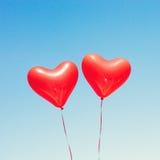раздувает сформированный красный цвет сердца Стоковое Изображение