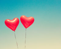 раздувает сформированный красный цвет сердца Стоковое Изображение RF