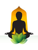 Раздумье йоги Стоковое фото RF
