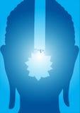 раздумье картины иллюстрации Будды стоковое изображение rf