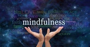 Раздумье Mindfulness Дзэн стоковое изображение rf