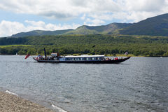 Район Англия озера воды Coniston гондолы стоковые фотографии rf