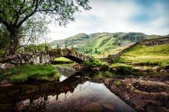 Район Великобритания озера мост Слейтеров Стоковые Фото
