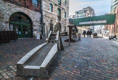 Район винокурни - Торонто Канада Стоковая Фотография