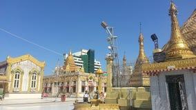 Район вокруг городка Янгона Мьянмы ботаники пагоды Стоковая Фотография RF