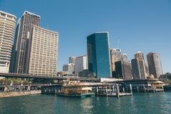 Район гавани милочки в Сиднее Стоковые Изображения