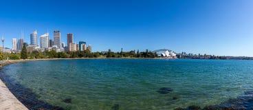 Район гавани Сиднея с мостом гавани Стоковые Изображения RF