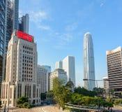 Район Гонконга городской Стоковое Изображение RF