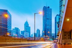 Район Гонконга городской финансовый Стоковые Фото