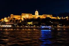 Район замка с Дунаем в Будапеште Стоковые Изображения
