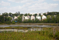 Район и пруд Стоковое Фото