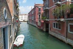 Район канала Венеции исторический Стоковая Фотография
