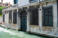 Район канала Венеции исторический Стоковые Фото