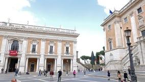 Район капитолия Roma, Италия сток-видео