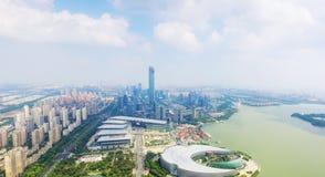 Район Китая новый озера Сучжоу Jinji стоковое фото rf