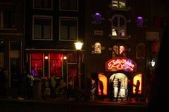 Район красного света в Амстердаме Стоковая Фотография RF