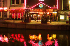 Район красного света в Амстердаме Стоковое Изображение RF