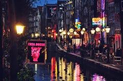 Район красных светов Амстердама Стоковые Изображения