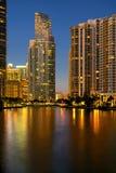 Район Майами финансовый на сумерк Стоковые Фотографии RF
