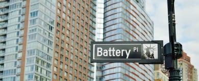 Район Манхэттена Ист - Сайда Нью-Йорка парка батареи городской более низкий стоковые фото