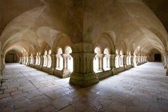 Район монастыря окружая внутренний сад Стоковые Фото