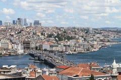 Район моста и Karakoy Galata в городе Стамбула Стоковое Фото