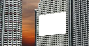 Район небоскреба или высокого здания и белых афиш в downto Стоковая Фотография RF