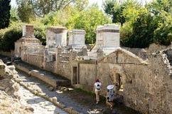 Район некрополя Помпеи стоковое изображение rf
