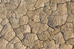 Район неорошаемого земледелия, треснутая земля, без воды Стоковое Фото