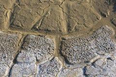 Район неорошаемого земледелия, треснутая земля, без воды Стоковая Фотография RF