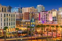 Район ночной жизни Сан-Диего стоковые изображения rf