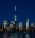 Район Нью-Йорка финансовый, Манхаттан Стоковое фото RF